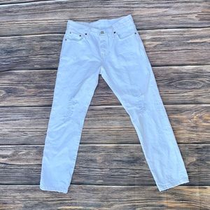 LEVIS 501 CT DISTRESSED JEANS